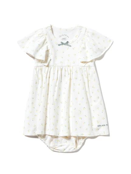 【BABY】リトルフラワー baby ロンパース(YEL-70)