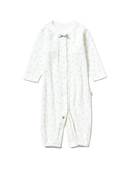 【新生児】 リトルフラワー2wayオール(YEL-50)
