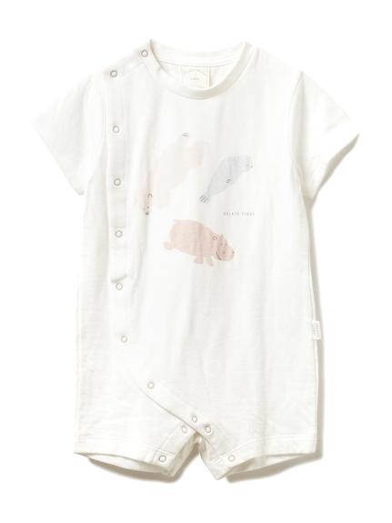 【旭山動物園】ペイントアニマル baby ロンパース(OWHT-70)