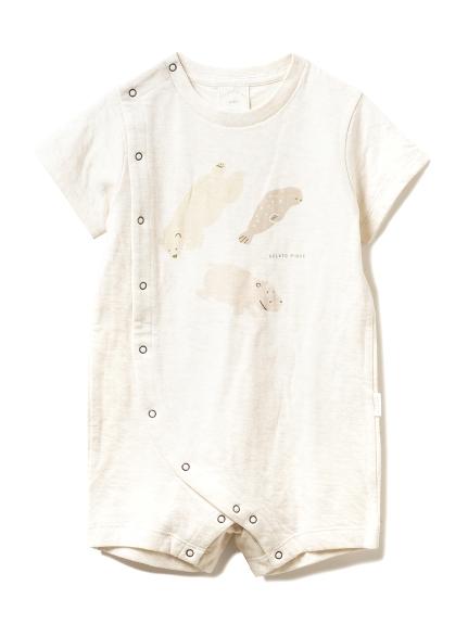 【旭山動物園】ペイントアニマル baby ロンパース(BEG-70)