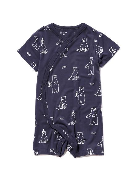 【シロクマフェア】シロクマモチーフ冷感 baby ロンパース