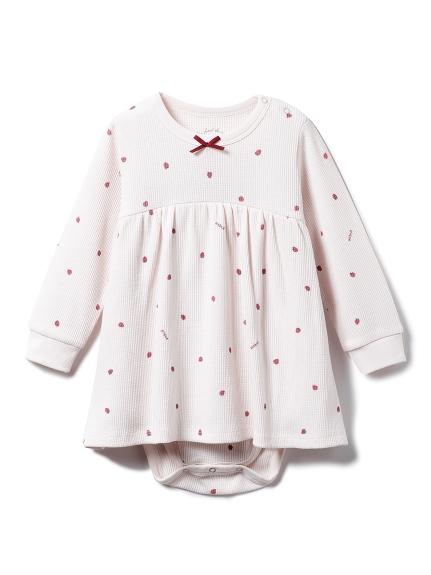 【BABY】ストロベリー baby ワッフルロンパース