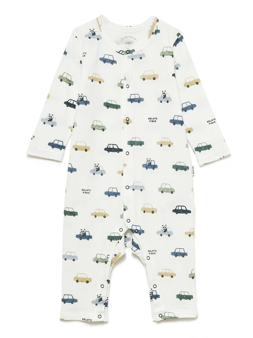 【BABY】くるまモチーフ baby ロンパース