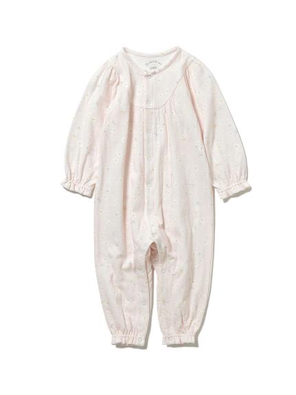 【BABY】デイジーモチーフ baby ロンパース(PNK-70)