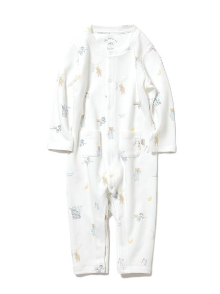 【BABY】モーニングベア baby ロンパース(OWHT-70)