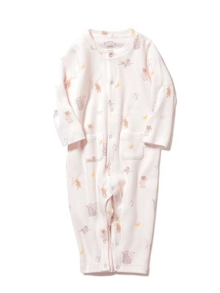 【BABY】モーニングベア baby ロンパース(PNK-70)