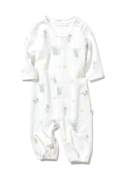 【BABY】モーニングベア新生児2wayオール