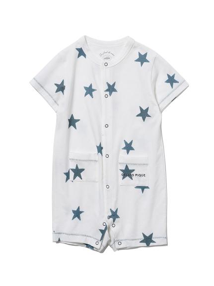 【BABY】スターモチーフ baby ロンパース(NVY-70)