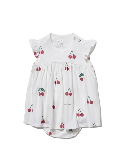 【BABY】チェリーモチーフ baby ロンパース
