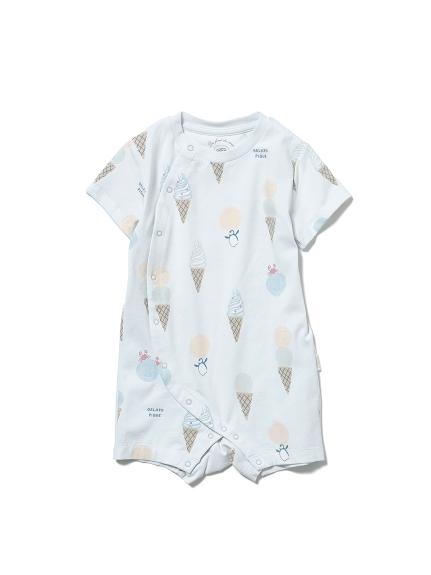 【BABY】アイスクリームアニマルモチーフ baby ロンパース(BLU-70)