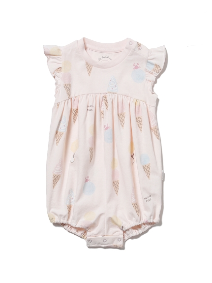 【BABY】アイスクリームアニマルモチーフ baby フリルロンパース