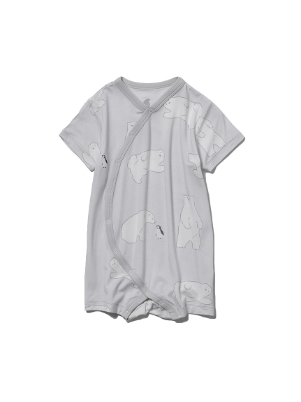 【BABY】【COOL FAIR】シロクマモチーフ baby ロンパース(GRY-70)