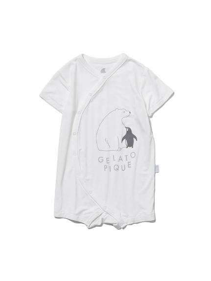 【BABY】【COOL FAIR】シロクマ baby ロンパース