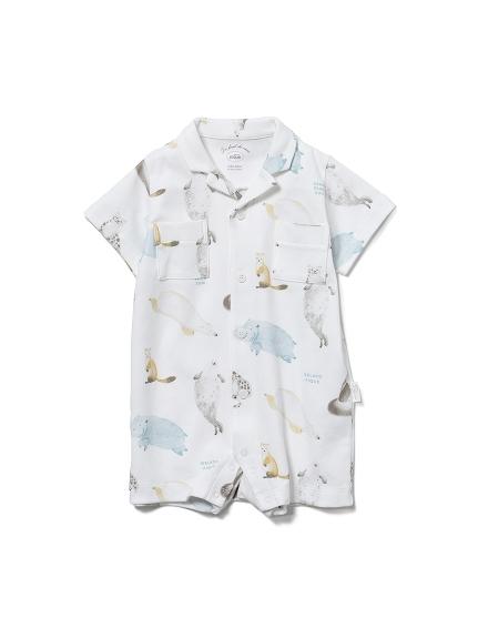 【BABY】【旭山動物園】アニマルモチーフ baby ロンパース(OWHT-70)
