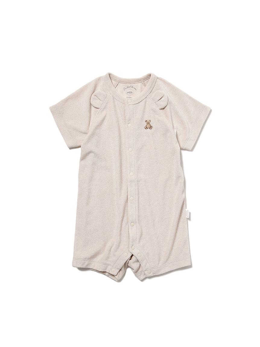 【ONLINE限定】【BABY】 ベアパイル baby ロンパース(BEG-70)