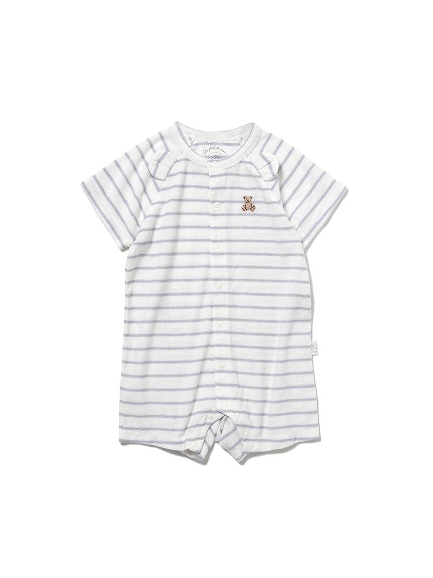 【ONLINE限定】【BABY】 ベアパイル baby ロンパース(BLU-70)