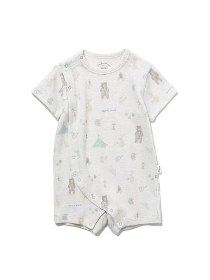 【BABY】 アニマルキャンプモチーフ baby ロンパース