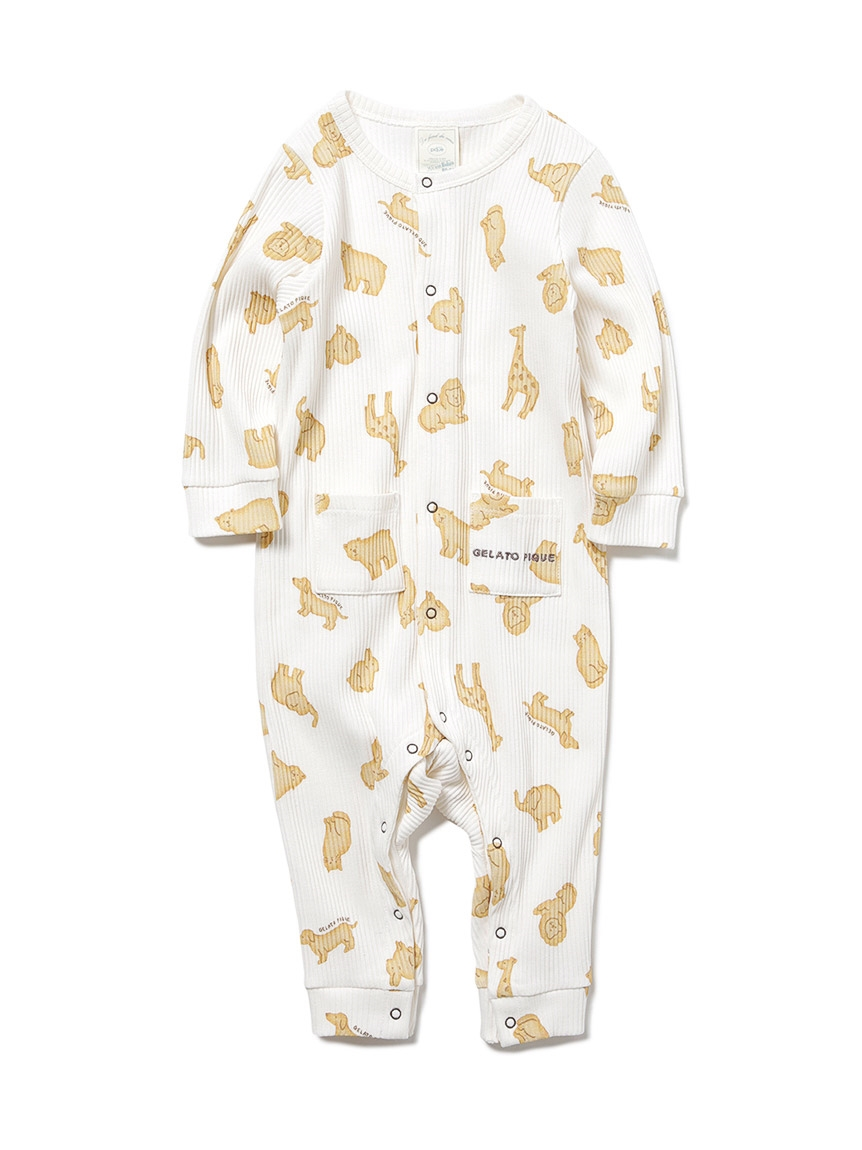 【BABY】 クッキーアニマルモチーフ baby ロンパース