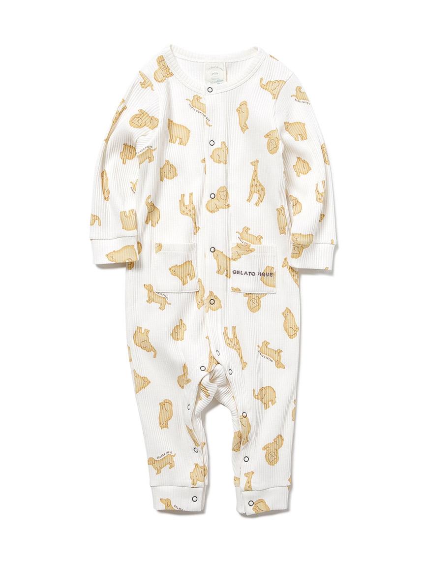 【BABY】 クッキーアニマルモチーフ baby ロンパース(OWHT-70)