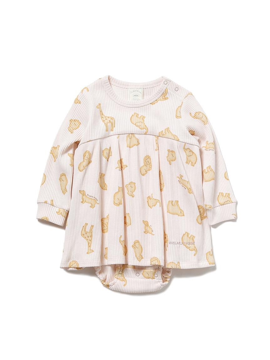 【BABY】 クッキーアニマルモチーフ baby ショートロンパース(PNK-70)