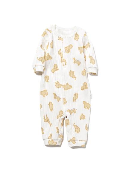 【BABY】 クッキーアニマルモチーフ新生児2wayオール