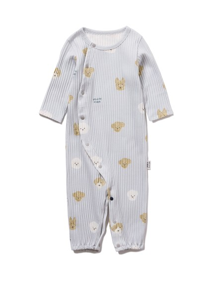 【BABY】メレンゲドッグ柄新生児2WAYオール