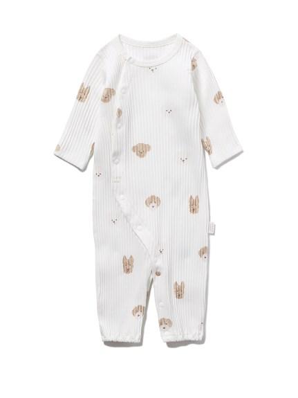 【BABY】メレンゲドッグ柄新生児2WAYオール(OWHT-50)