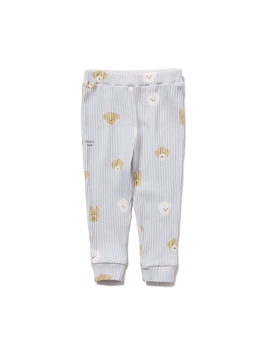【BABY】メレンゲドッグ柄 baby ロングパンツ(BLU-70)
