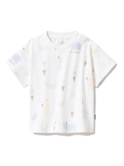 【BABY】アイスクリームアニマル baby Tシャツ
