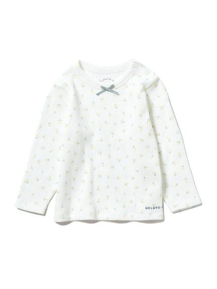 【BABY】リトルフラワー baby プルオーバー(YEL-70)