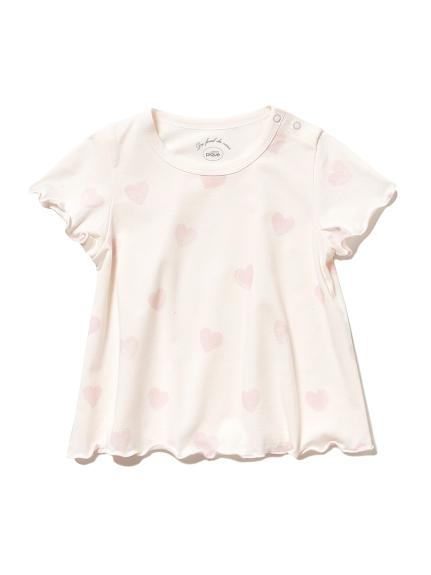 ハートモチーフ baby Tシャツ(PNK-70)