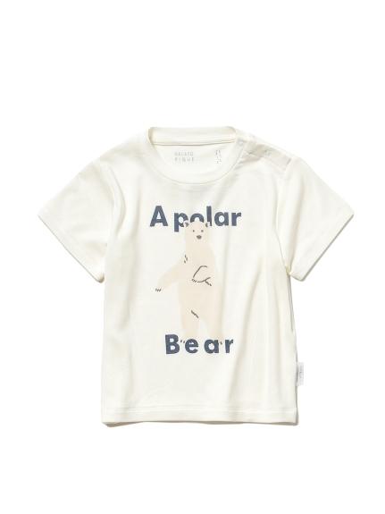 【シロクマフェア】ワンポイント冷感 baby Tシャツ