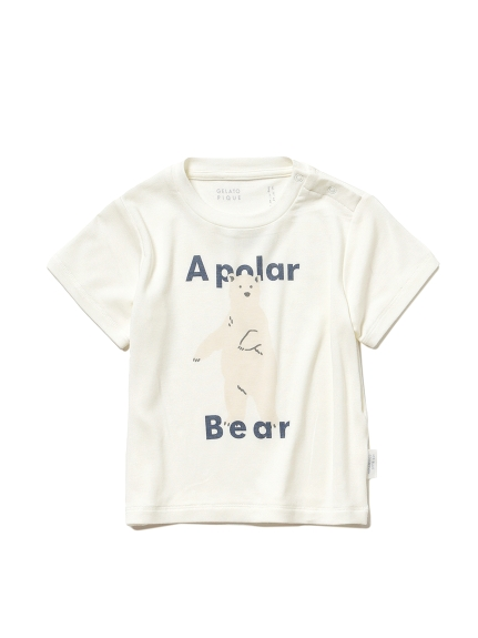 【シロクマフェア】ワンポイント冷感 baby Tシャツ(OWHT-70)