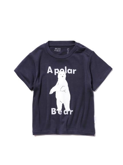 【シロクマフェア】ワンポイント冷感 baby Tシャツ(NVY-70)