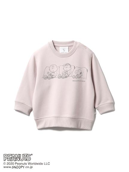 【ONLINE限定】【PEANUTS】裏毛 baby プルオーバー(PNK-70)