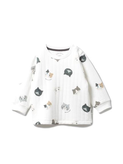 ネコモチーフ baby プルオーバー