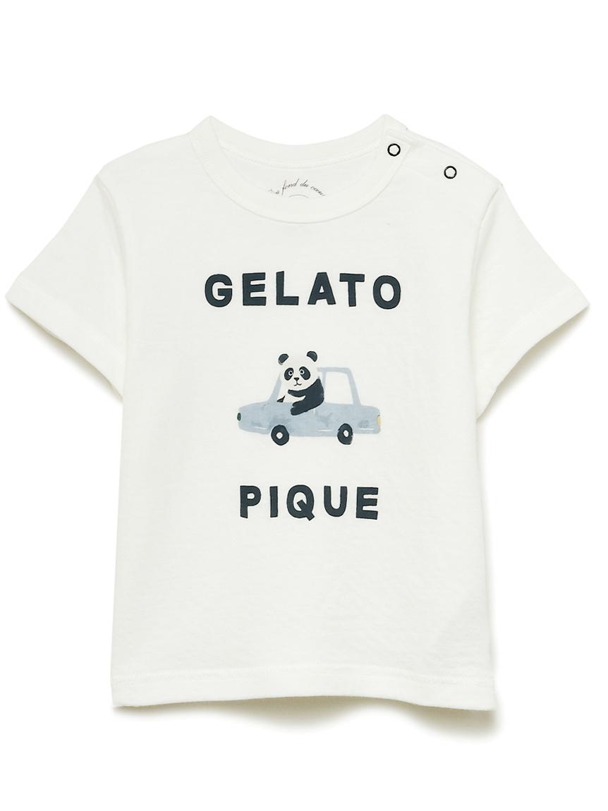 【BABY】くるまモチーフワンポイント baby Tシャツ