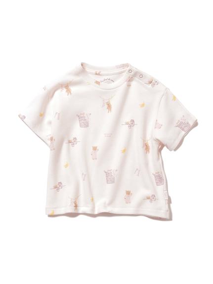 【BABY】モーニングベア baby Tシャツ(PNK-70)