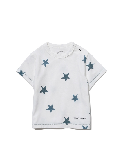 【BABY】スターモチーフ baby Tシャツ(NVY-70)