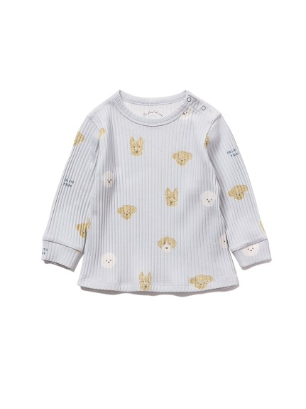 【BABY】メレンゲドッグ柄 baby プルオーバー(BLU-70)