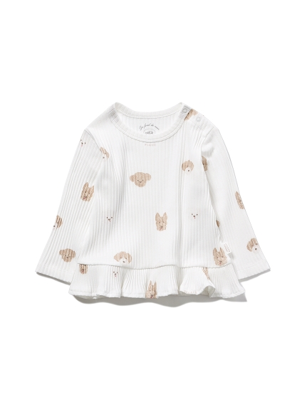 【BABY】メレンゲドッグ柄 baby フリルプルオーバー