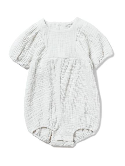 【BABY】マシュマロガーゼ baby ショートロンパース