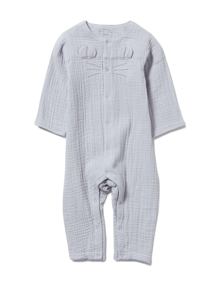 【BABY】アニマルガーゼ baby ロンパース(BLU-70)