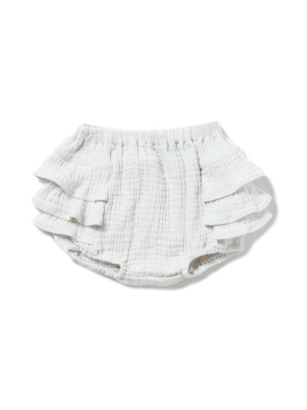 【BABY】ガーゼ baby フリルショートパンツ(MNT-F)