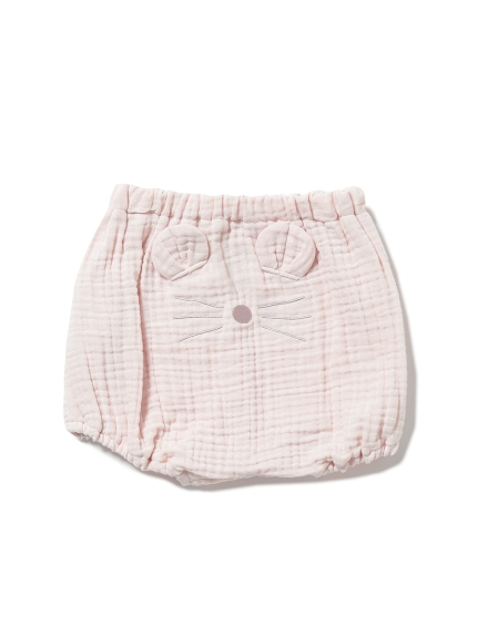 【BABY】アニマルガーゼ baby ショートパンツ(PNK-70)