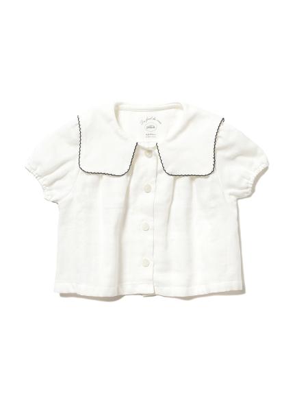 マリンガーゼ baby ガールズシャツ