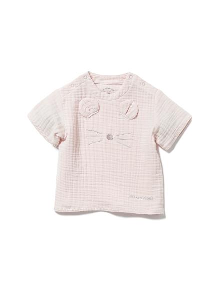 【BABY】アニマルガーゼ baby Tシャツ(PNK-70)