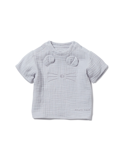 【BABY】アニマルガーゼ baby Tシャツ(BLU-70)
