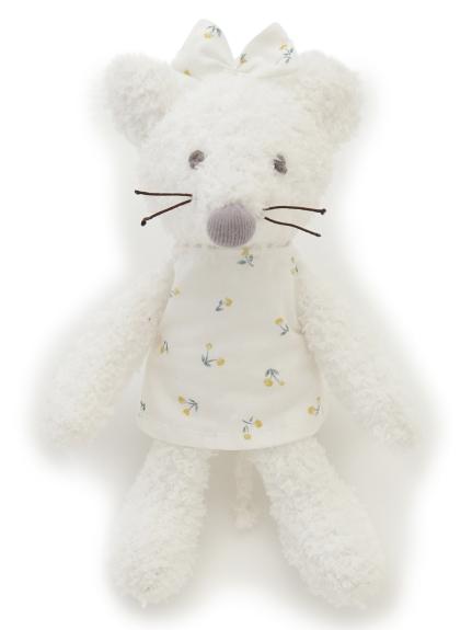【BABY】'ベビモコ'ネズミ baby ガラガラ(OWHT-F)