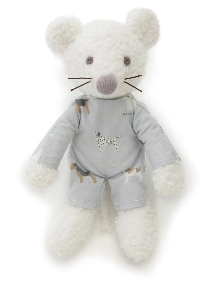 【BABY】'ベビモコ'ネズミ baby ガラガラ(BLU-F)
